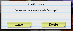 Asking the player to confirm whether they really wanted to delete the save file
