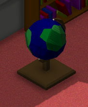 A world map globe